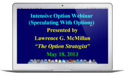 Recorded Intensive Option Webinar:  Speculating with Options