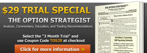 The Option Strategist $29 Trial